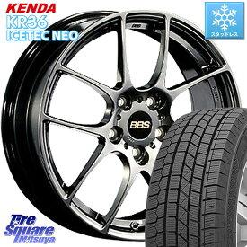 ステップワゴン MAZDA3 KENDA ICETEC NEO KR36 2020年製 ケンダ スタッドレスタイヤ 205/55R17 BBS RF 鍛造1ピース ホイールセット 17インチ 17 X 7.0J +50 5穴 114.3