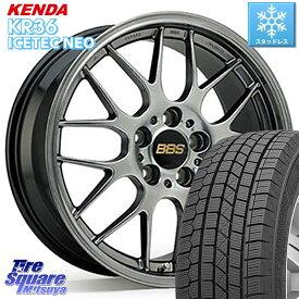 WRX S4 ステップワゴン レヴォーグ MAZDA3 KENDA ICETEC NEO KR36 2020年製 ケンダ スタッドレスタイヤ 215/50R17 BBS RG-R 鍛造1ピース ホイールセット 17インチ 17 X 7.0J +50 5穴 114.3