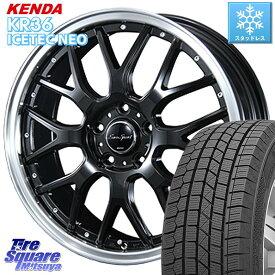 WRX S4 レヴォーグ MAZDA3 プリウスα KENDA ICETEC NEO KR36 2020年製 ケンダ スタッドレスタイヤ 215/50R17 BLEST Eurosport Type815 ホイールセット 17インチ 17 X 7.0J +48 5穴 114.3