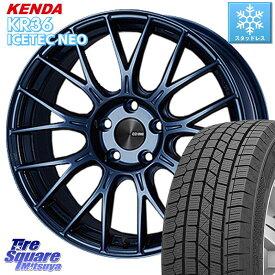 WRX S4 レヴォーグ MAZDA3 プリウスα KENDA ICETEC NEO KR36 2020年製 ケンダ スタッドレスタイヤ 215/50R17 ENKEI エンケイ PerformanceLine PFM1 ホイールセット 17インチ 17 X 7.0J +48 5穴 114.3