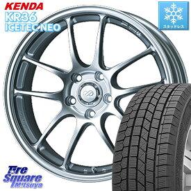 WRX S4 レヴォーグ MAZDA3 プリウスα KENDA ICETEC NEO KR36 2020年製 ケンダ スタッドレスタイヤ 215/50R17 ENKEI エンケイ PerformanceLine PF01 ホイールセット 17 X 7.0J +48 5穴 114.3