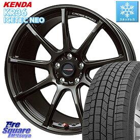 【12/1はエントリーで最大22倍】【取付対象】 リーフ KENDA ICETEC NEO KR36 2020年製 ケンダ スタッドレスタイヤ 225/45R18 HotStuff クロススピード RS9 RS-9 軽量 ホイールセット 18インチ 18 X 7.5J +38 5穴 114.3