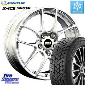 WRX S4 レヴォーグ MAZDA3 プリウスα ミシュラン X-ICE SNOW エックスアイススノー XICE SNOWスタッドレス 正規品 215/50R17 BBS RF 鍛造1ピース ホイールセット 17インチ 17 X 7.0J +48 5穴 114.3