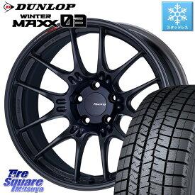 CR-V DUNLOP WINTER MAXX 03 ウィンターマックス WM03 ダンロップ スタッドレスタイヤ 245/45R19 ENKEI エンケイ RACING GTC02 ホイール セット 19インチ 19 X 8.0J +45 5穴 114.3