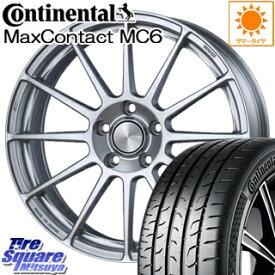 コンチネンタル MaxContact MC6 225/40R18 ENKEI PerformanceLine PF03 ホイールセット 4本 18 X 7.5 +38 5穴 114.3