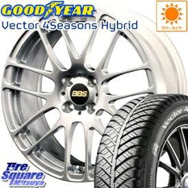 【7月5日は最大31倍】 フィールダー ロードスター フィット グッドイヤー ベクター Vector 4Seasons Hybrid オールシーズンタイヤ 195/50R16 BBS RE-L2 鍛造1ピース ホイールセット 16インチ 16 X 6.5J +44 4穴 100