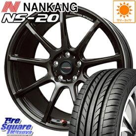 NANKANG TIRE ナンカン NS-20 サマータイヤ 225/40R18 HotStuff クロススピード RS9 ハイパーエディション 軽量 ホイールセット 4本 18インチ 18 X 8.5 +38 5穴 114.3