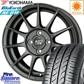 YOKOHAMA ヨコハマ ブルーアース AE-01F サマータイヤ 175/65R14 MSW by OZ MSW85 ホイールセット 4本 14インチ 14 X 6 +35 4穴 98