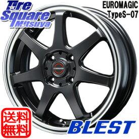 【6/10は最大P45倍】 BLEST EUROMAGIC Type S-07 ホイールセット 15インチ 15 X 5.0J +45 4穴 100WINRUN WINRUN R330 サマータイヤ 165/55R15
