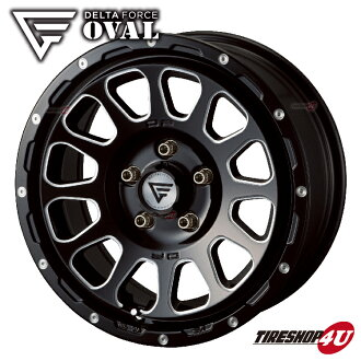 New article including 16 inches of DELTA FORCE OVAL 16x7.0 5/114 .3+42 black machine opening country A/T+ 215/70R16 tire wheel four set Delica D5