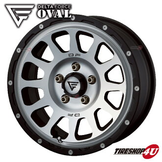 New article including 16 inches of DELTA FORCE OVAL 16x7.0 5/114 .3+42 mat black open country A/T+ 215/70R16 tire wheel four set Delica D5 to polish