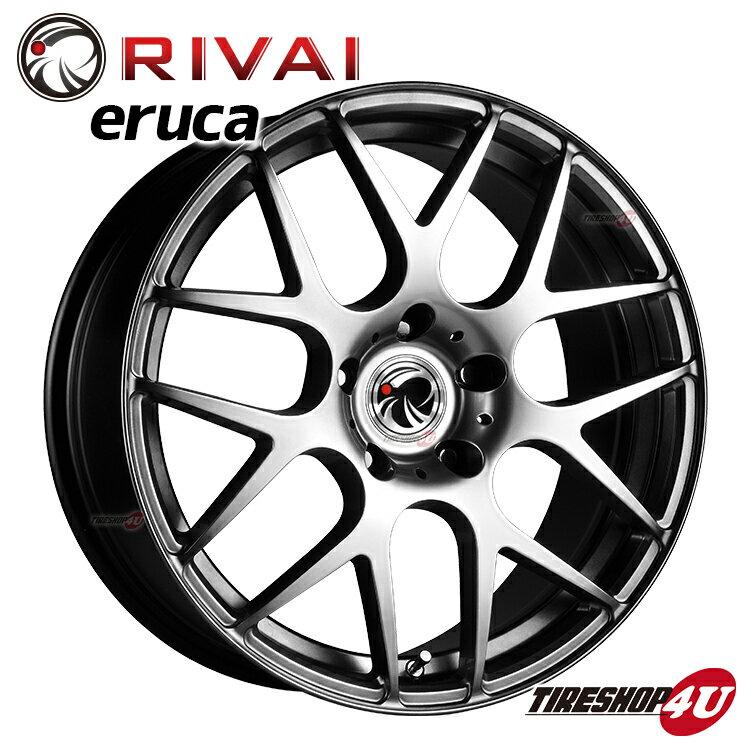 新品アルミホイール1本価格 17インチRivai ERUCA 17×7.5J 5/120 +21 HUB:72.6φHPB(ハイパーブラック) BMW 5シリーズ/7シリーズ E60/E61/F10/F11/E38/E65/E66 純正センターキャップ・ボルト対応単品