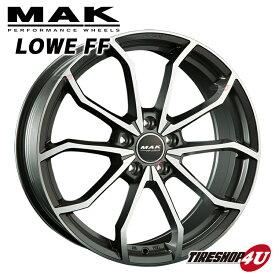 18インチMAK LOWE FF(マック レーベエフエフ) 18×7.5J 5/112 +51 HUB:57.1Φガンメタリックミラー AUDI A3/S3(8P/8V)/VW ザ・ビートル/ゴルフ7 軽量フローフォーミング 純正ボルト対応 新品アルミホイール1本価格