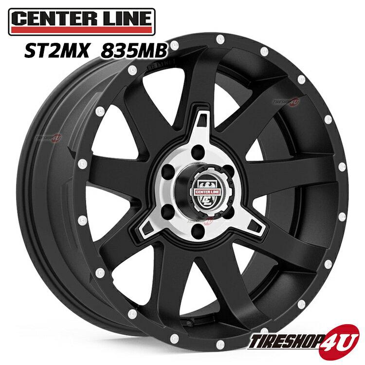 ST2 20x9.0J センターラインMX:サテンブラック 5/114.3 5/127 5/135 5/139.7 5/150 6/135 6/139.7 8/170 8/165 8/180 Center Line Alloy Wheels STシリーズ (オフロードタイプ)(1本価格)