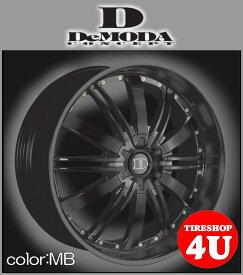 22インチDeMODA ディモーダ Absoluter アブソリュート マットブラックムラーノ ヴァンガード CX−7 レクサス RX スカイラインクーペ インフィニティFX35 エクスプローラー タイヤ付4本SET