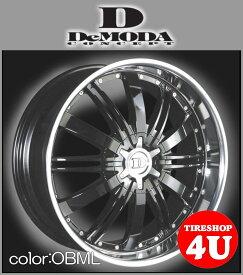 22インチDeMODA ディモーダ Absoluter アブソリュート オニキスブラックディスク/ミラーリップムラーノ ヴァンガード CX−7 レクサス RX スカイラインクーペ インフィニティFX35 エクスプローラー タイヤ付4本SET