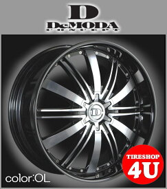 22インチDeMODA ディモーダ Absoluter アブソリュート オニキスリップムラーノ ヴァンガード CX−7 レクサス RX スカイラインクーペ インフィニティFX35 エクスプローラー タイヤ付4本SET