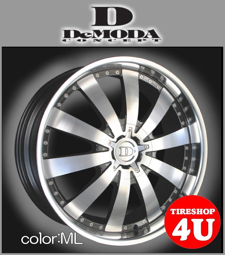 22インチDeMODA ディモーダ Aviator アヴィエイター ブラックポリッシュ/ミラーリップFX35 Infinity インフィニティ S51 ヨコハマ PARADA 265/40R22 タイヤ付4本SET