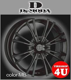 22インチDeMODA MIURA(ディモーダ ミウラ) メルセデスベンツ MLクラス(W164/W166) 22×9.5J 5/120 ET45 マットブラック(MB)265/35R22 ※当社指定輸入タイヤ新品タイヤホイール4本セット価格 JWL規格適合品