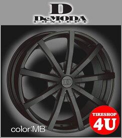 22インチDeMODA SENECA(ディモーダ セネカ) メルセデスベンツ GLクラス(X164) 22×9.5J 5/120 ET45 マットブラック(MB)265/40R22 ※当社指定輸入タイヤ新品タイヤホイール4本セット価格 JWL規格適合品