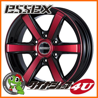 18 inches of ESSEX TYPE EX 18 X 7.5J 6/139.7 +38 red clear Essex type EC-18 EC18 high ace 200 system