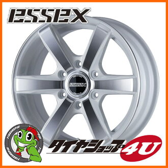 18 inches of ESSEX TYPE EX 18 X 7.5J 6/139.7 +38 white Essex type EC-18 EC18 high ace 200 system to polish