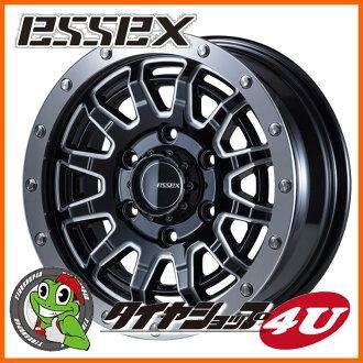 15 inches of ESSEX TYPE EX 15 X 6.0J 6/139.7 +33 ブラックマシニングエセックスタイプ EX-15 EX15 high ace 200 system