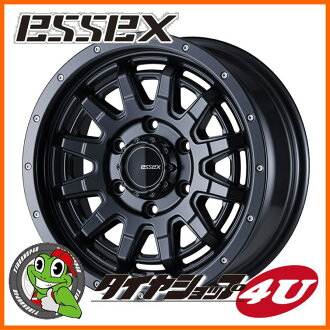 16 inches of ESSEX TYPE EX 16 X 6.5J 6/139.7 +38 oar semi-gross black Essex type EX-16 EX16 high ace 200 system