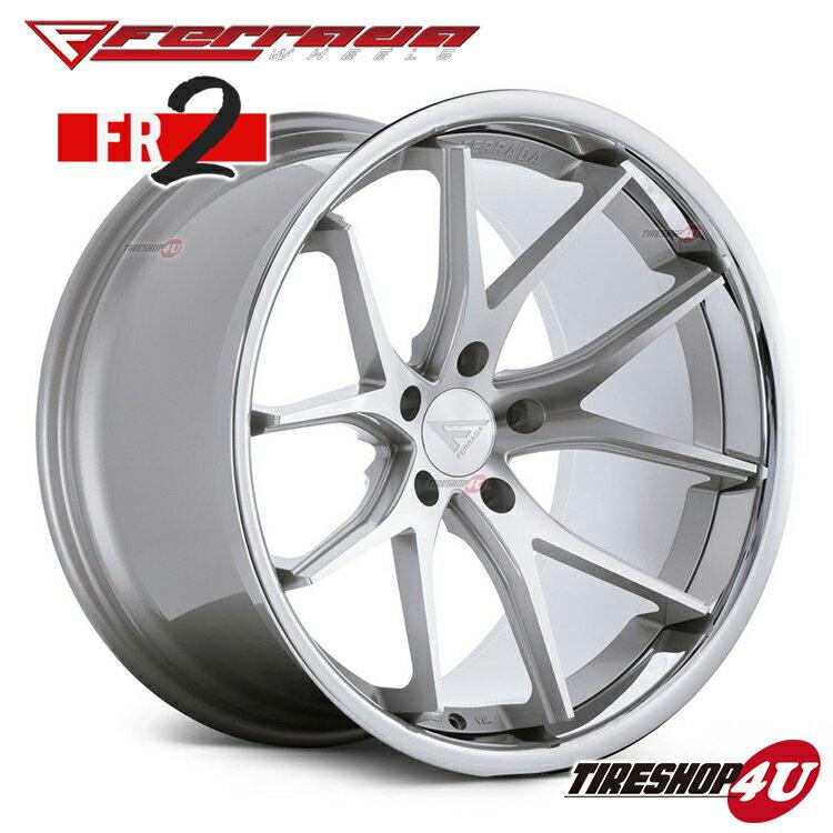 【20日限定ポイント最大10倍】20インチ Ferrada wheels FR2 20×10.5JPCD:5/108・5/112・5/114.3・5/150・5/120 color:マシンシルバー/SS クロームリップ 新品アルミホイール単品1本価格 フェラーダホイールズ コンケーブ