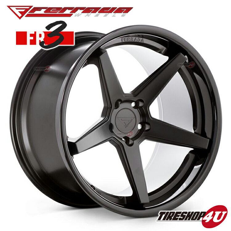 20インチ Ferrada wheels FR3 20×11.5JPCD:5/108・5/112・5/114.3・5/150・5/120 color:マットブラック/SS グロスブラックリップ 新品アルミホイール単品1本価格 フェラーダホイールズ コンケーブ