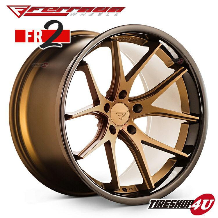 20インチフォード マスタング/マスタングGT FERRADA WHEELS FR2 20×9.0J ET35&10.5J ET38 マットブロンズ/ブラックリップ当社指定輸入タイヤ or NANKANG 245/35R20 & 275/30R20 新品タイヤホイールセット4本価格 JWL規格適合品