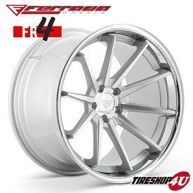 22インチ Ferrada wheels FR4 22×9.0JPCD:5/112・5/114.3・5/120 color:マシンシルバー/SS クロームリップ 新品アルミホイール単品1本価格 フェラーダホイールズ コンケーブ