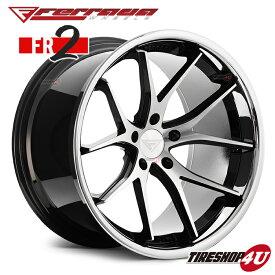 19インチ Ferrada wheels FR2 19×9.5JPCD:5/112・5/114.3・5/120 color:マシンブラック/SS クロームリップ 新品アルミホイール単品1本価格 フェラーダホイールズ コンケーブ