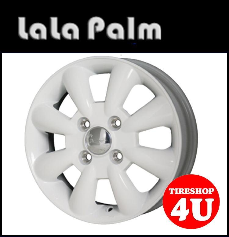14インチLaLa Palm KC-8 14×4.5J 4/100 +43ホワイト ララパーム KC8 軽自動車 新品アルミホイール1本価格 ※Newソリオ、デリカD;2対応