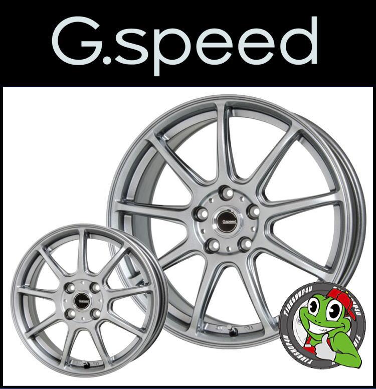 15インチG.speed G-01 15×4.5J 4/100 +45メタリックシルバー ジースピード G01 新品アルミホイール1本価格 ソリオ(MA15系)・デリカD2対応