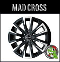 15インチ【MAD CROSS BREAKER XS6】15×6.0J 6/139.7 +33【ブラックポリッシュ】【マッドクロス ブレイカーXS6】【新品アル...