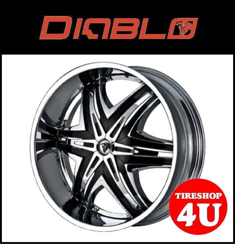 26インチDIABLO(ディアブロ) ELITE(エリート) 26×10.0J クロームメッキ/ブラックランクル100 ランクル200 シグナス セコイア タンドラ 新品タイヤホイール4本セット価格
