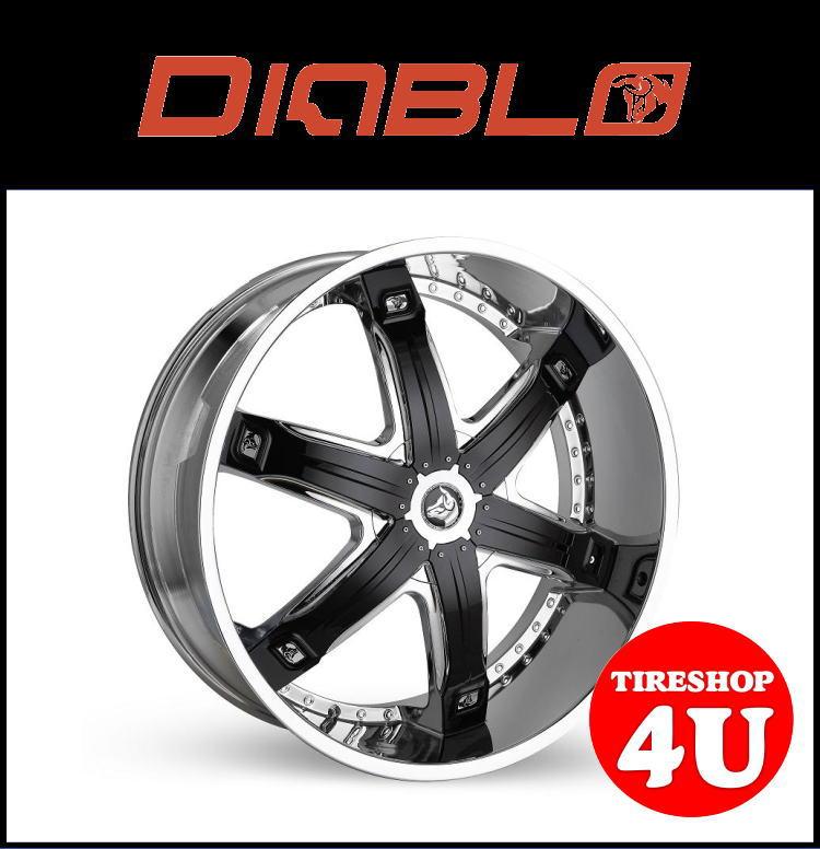 26インチDIABLO FURY 26×10.0J ET15 クロームメッキ/ブラックインサート305/30R26 ダッジラム ピックアップ 新品タイヤホイール4本セット価格 JWL規格適合品 ディアブロ フーリー