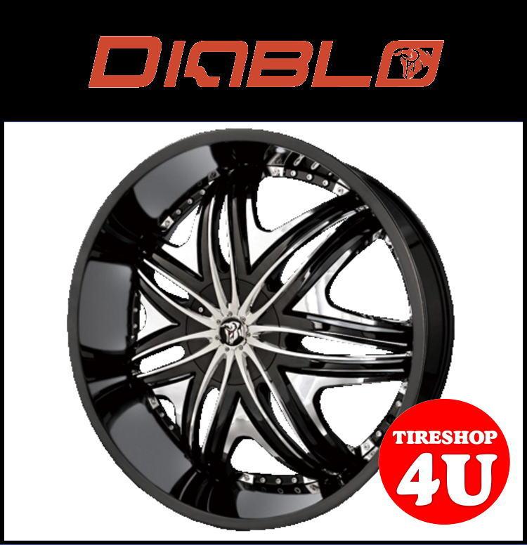 26インチDIABLO(ディアブロ) MORPHEUS(モーフィアス) 26×10.0J ブラック/クロームメッキインサートランクル200 ランドクルーザー200 セコイア タンドラ 新品タイヤホイール4本セット価格