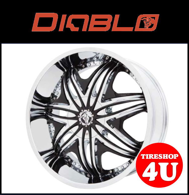 26インチDIABLO(ディアブロ) MORPHEUS(モーフィアス) 26×10.0J クロームメッキ/ブラックインサートランクル200 ランドクルーザー200 セコイア タンドラ 新品タイヤホイール4本セット価格