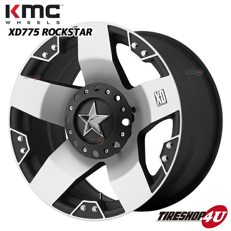 18インチKMC XD775 ROCKSTAR ロックスター マットブラック/マシンドハマーH2 HUMMER H2 ハマー NITTOタイヤ付4本SET マッドグラップラー 35×12.50R18