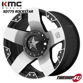 20インチKMC XD775 ROCKSTAR ロックスター マットブラックFJクルーザー プラド ハイラックスサーフ セコイア タンドラ タコマ NITTOタイヤ付4本SET DUNEグラップラー