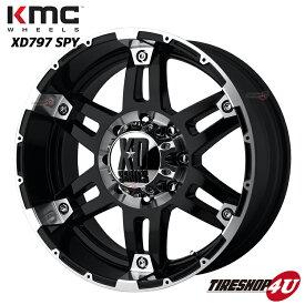 18インチKMC XD797 SPY ブラックマシンドNITTO Trail Grappler トレイルグラップラー 285/65R18 FJクルーザー 6穴 139.7 タイヤ付4本SET