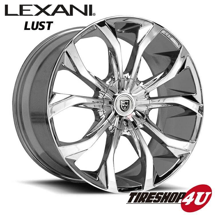 24インチ LEXANI(レクサーニ) LUST(CVX-4) 24×10.0J クロームメッキランドクルーザー200 ランクル200 タンドラ セコイア 新品タイヤホイール4本セット価格