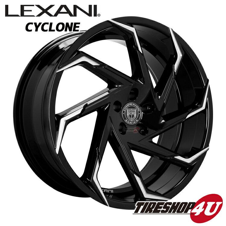 26インチLexani Cyclon(レクサーニ サイクロン) 26×10.0J グロスブラック/マシンチップキャデラック エスカレード(07y〜)、シボレー タホ/サバーバン(07y〜) 特選輸入タイヤタイヤ 295/30R26 新品タイヤホイールセット4本価格