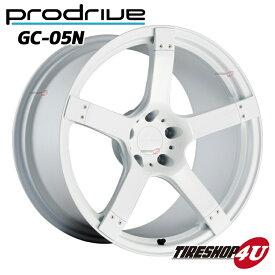1台分4本購入で送料無料 代引き不可 19インチProdrive GC-05N 19×8.5J 5/100 +43 BW(ブリティッシュホワイト) FACE 2/DISK L3 鍛造 プロドライブ GC05N 新品アルミホイール1本価格