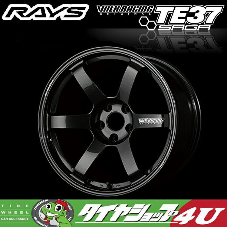 18インチRAYS VOLK Racing TE37SAGA 18×10.5J 5/114.3 +24MM(ダイヤモンドダークガンメタ) レイズ ボルクレーシング TE37 サーガ 鍛造 新品アルミホイール1本価格 FACE-4