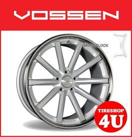 20インチVOSSEN ヴォッセ VVC CV1 マットシルバーw/ステンレスリップベンツ CLS W219 メルセデスベンツ タイヤ付4本SET 逆反り