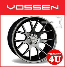 20インチVOSSEN ヴォッセ VVC CV2 マットブラックマシンドw/ステンレスリップベンツ CLS W219 メルセデスベンツ タイヤ付4本SET 逆反り