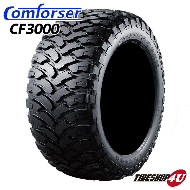 送料無料 新品 タイヤ Comforser CF3000 37X13.50R26 単品 サマータイヤ マッドタイヤ M/T ブラックレター オフロードタイヤ MT コンフォーサー 37x13.5R26 37x13.50-26